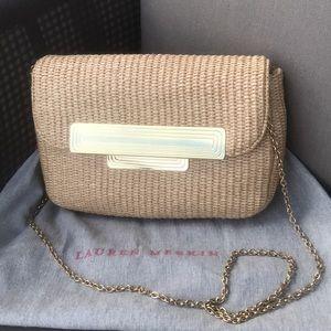 Lauren Merkin Woven Straw Crossbody Bag/Clutch